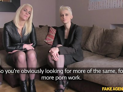 Debby Pleasure can't wait to jump on a stranger's penis just about a triumvirate