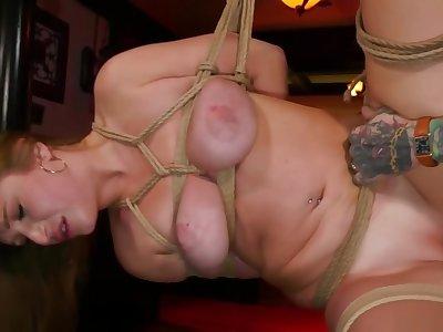 Alt master rough fucks busty slave