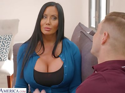 Sybil is a hot brunette milf with big tits, who likes to shot casual sex with Nathan