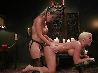 MILF ass fucked with the addition of spanked there lesbian femdom XXX