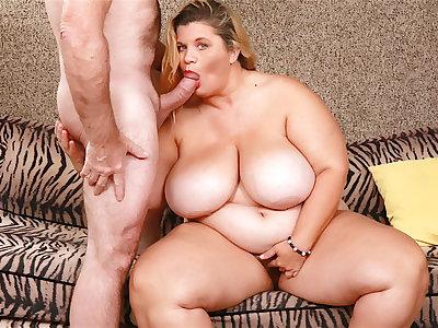 Gradual Blonde BBW Hayley Jane Has Her Mega Milkers Sprayed After Sexual relations