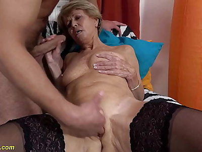 sexy 75 life-span aged mom loves toyboy