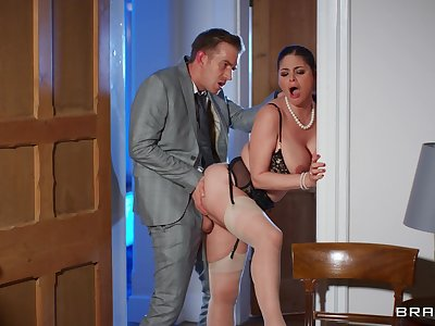 Hardcore fucking with hot arse and tits mature wife Cathy Heaven
