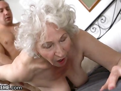 Horny Person Helping The Old Granny Next Way in - Big mature ass